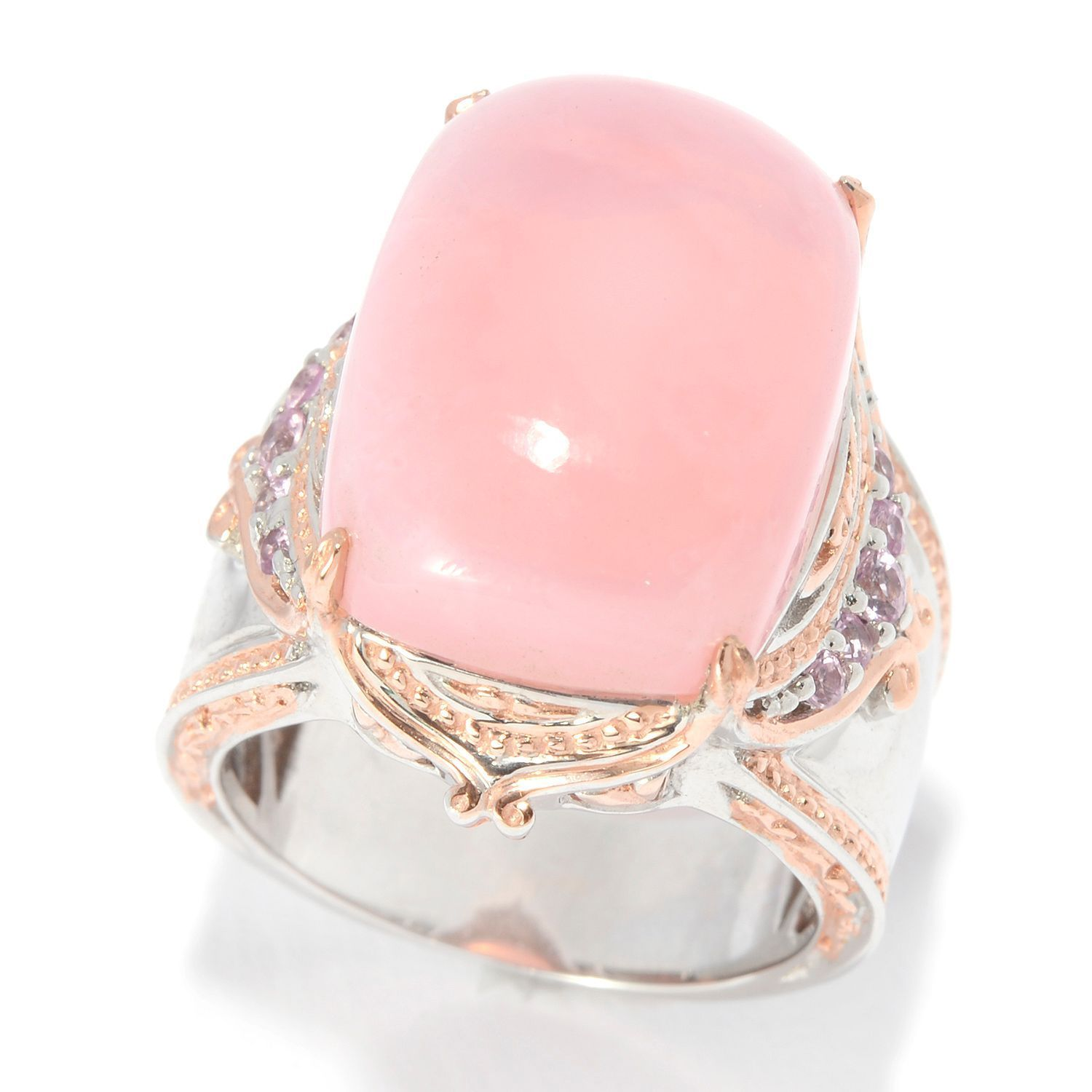 Michael Valitutti Pink Opal Ring - Free Shipping Today - Overstock ...