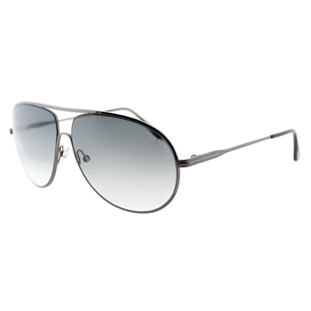 964f3658ad0 Shop Tom Ford Cliff TF 450 09B Matte Gunmetal Aviator Metal Sunglasses -  Free Shipping Today - Overstock - 11540307