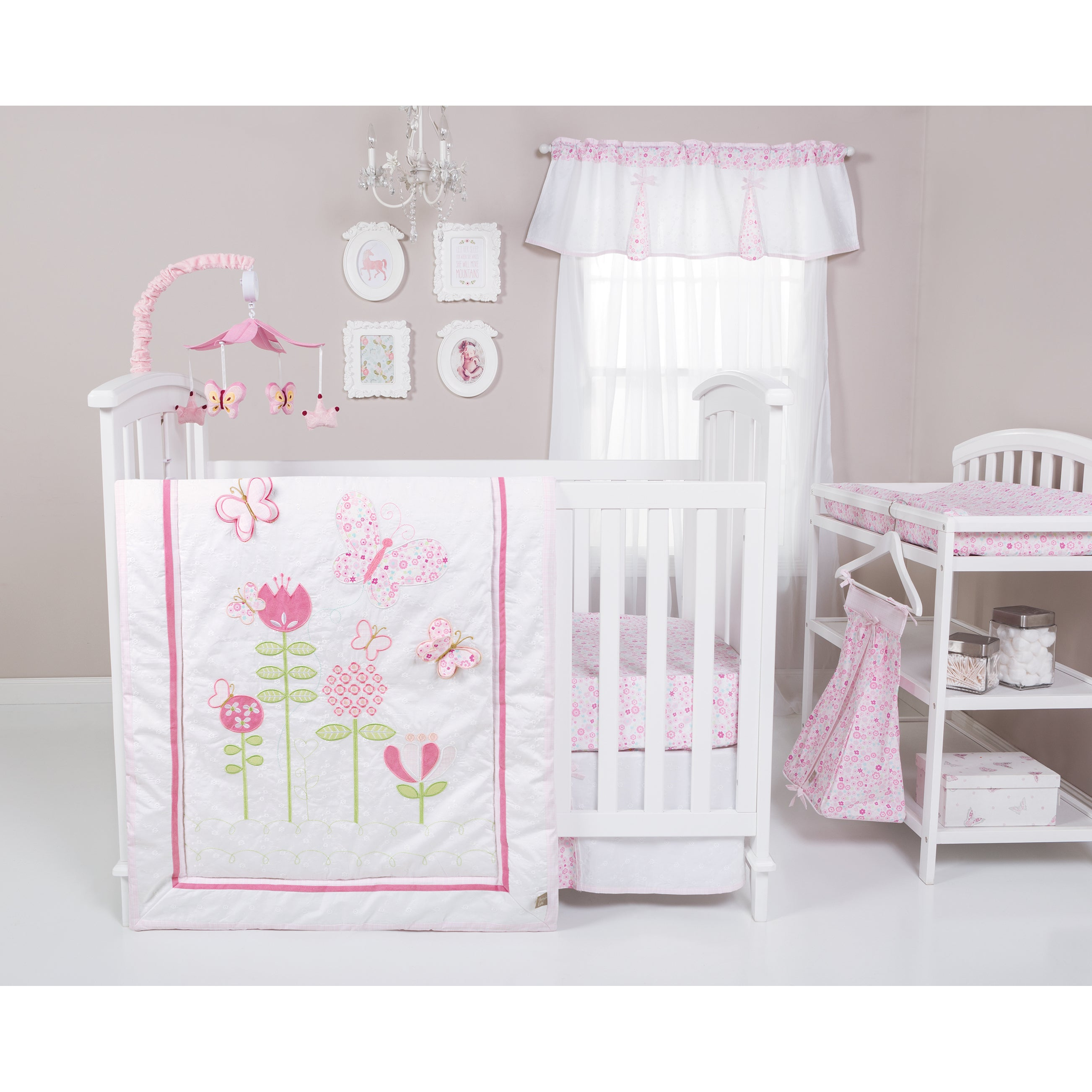 cribs set gia baby com shell in aqua the by walmart girl ip crib peanut coral floral bedding