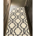 Fancy Moroccan Trellis Non-Slip Runner Rug Rubber Backed (1' 8 x 4' 11)