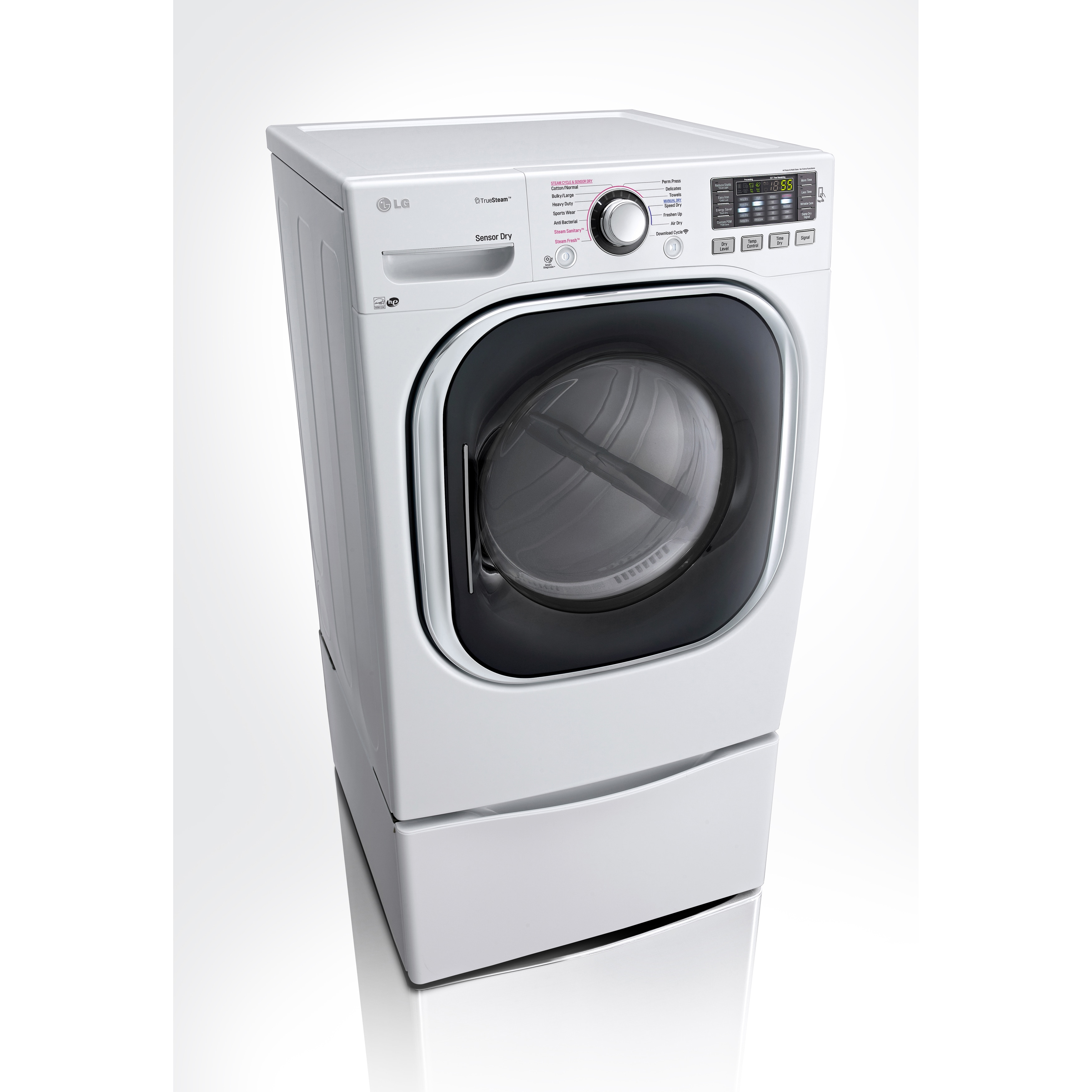 LG DLGX4271V 7 4-cubic Feet Ultra Large Capacity SteamDryer with NFC Tag On  (Gas) in White