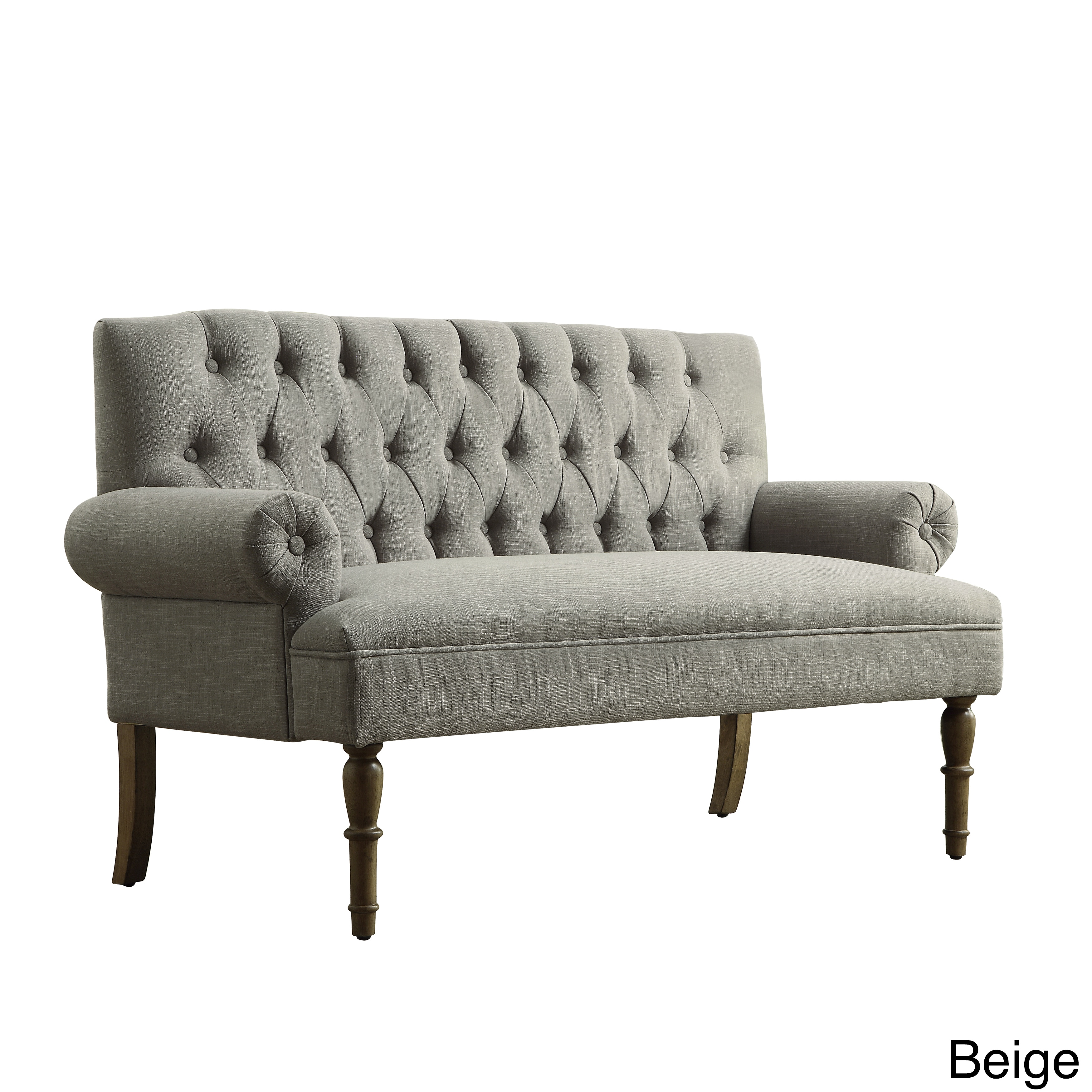 Brand new Upholstered Settee Loveseat with Tufting Back - Free Shipping  NP27