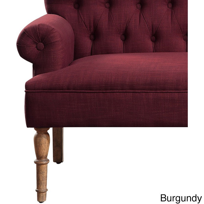 upholstered multiple button loveseat settee index mid tufted colors grey modern laurence fabric seater century dark