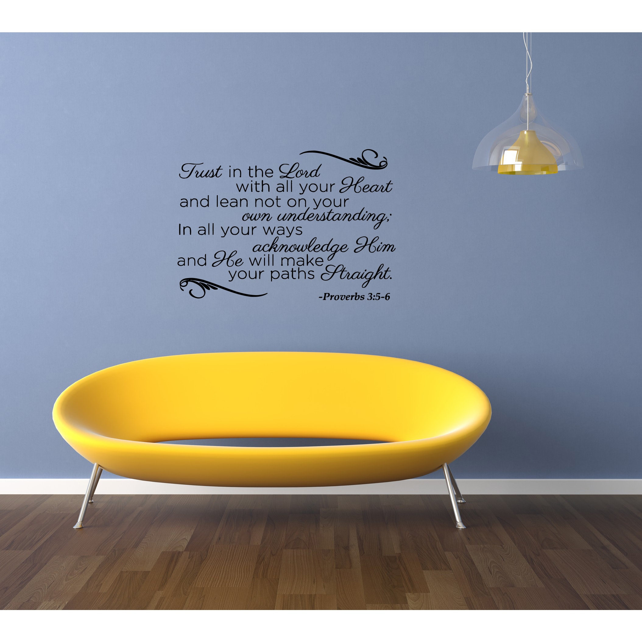 Shop Expression Trust in the Lord - Proverbs 35 Wall Art Sticker ...
