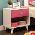 Furniture of America Kacie Modern Pink/White Youth Nightstand
