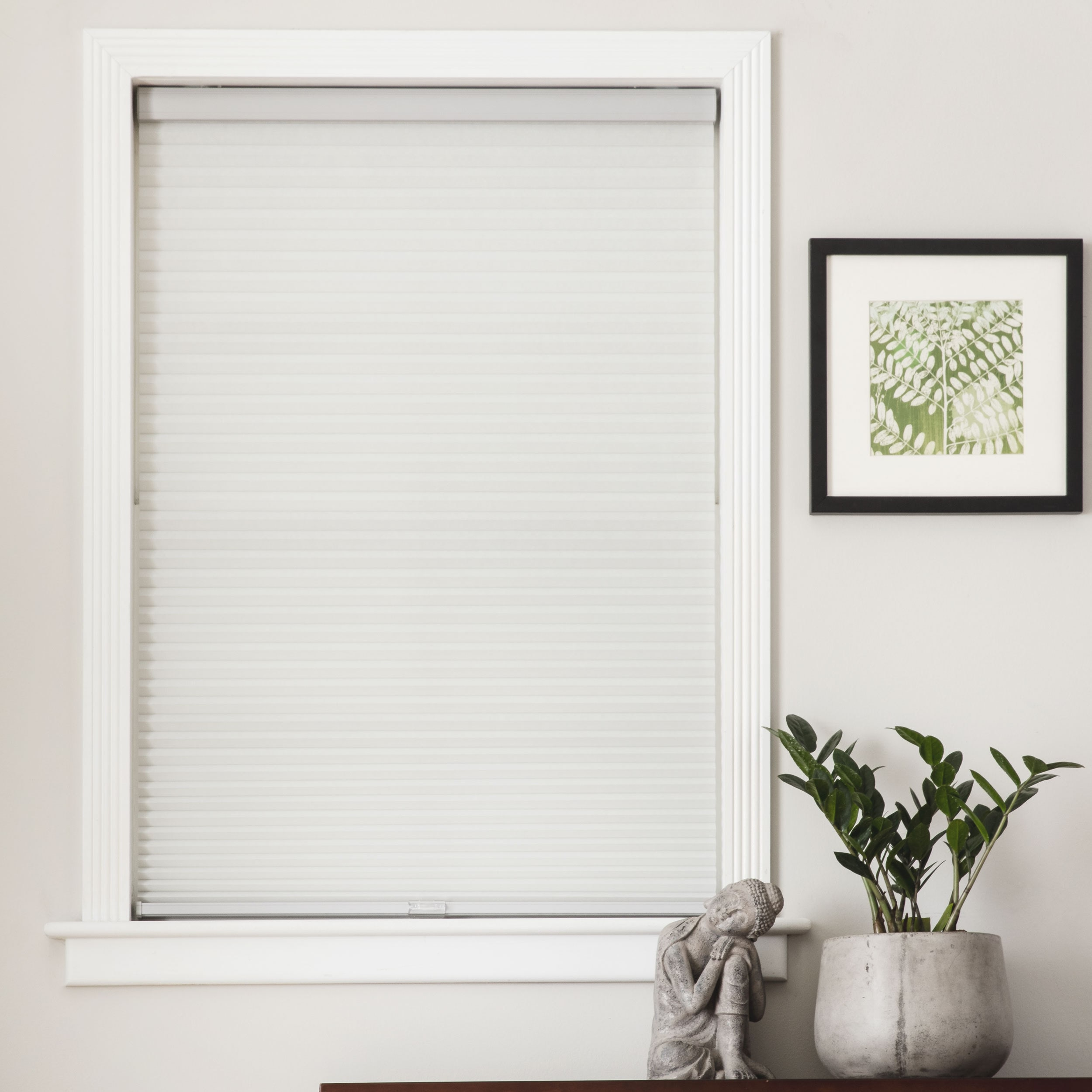 light blinds home overstock arlo on garden fabric lift grey roman filtering over shipping free orders shade cordless product
