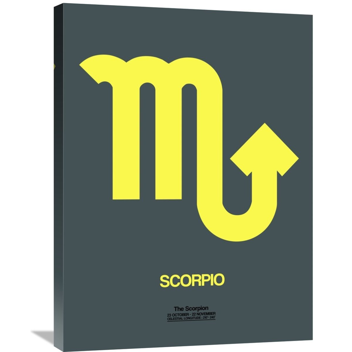 Shop Naxart Studio \'Scorpio Zodiac Sign Yellow\' Stretched Canvas ...