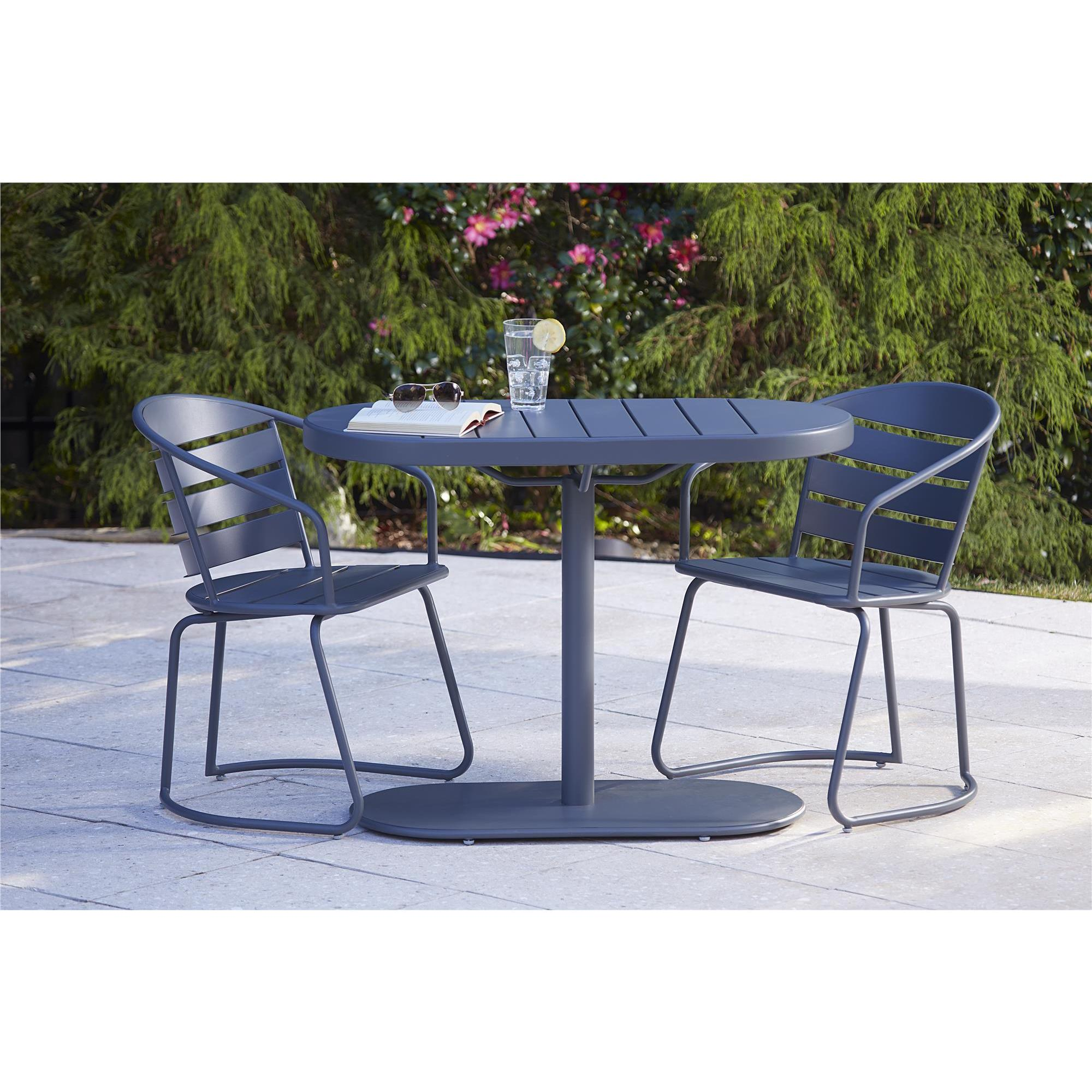 COSCO Grey Outdoor Steel Nesting Bistro Patio Set Free Shipping
