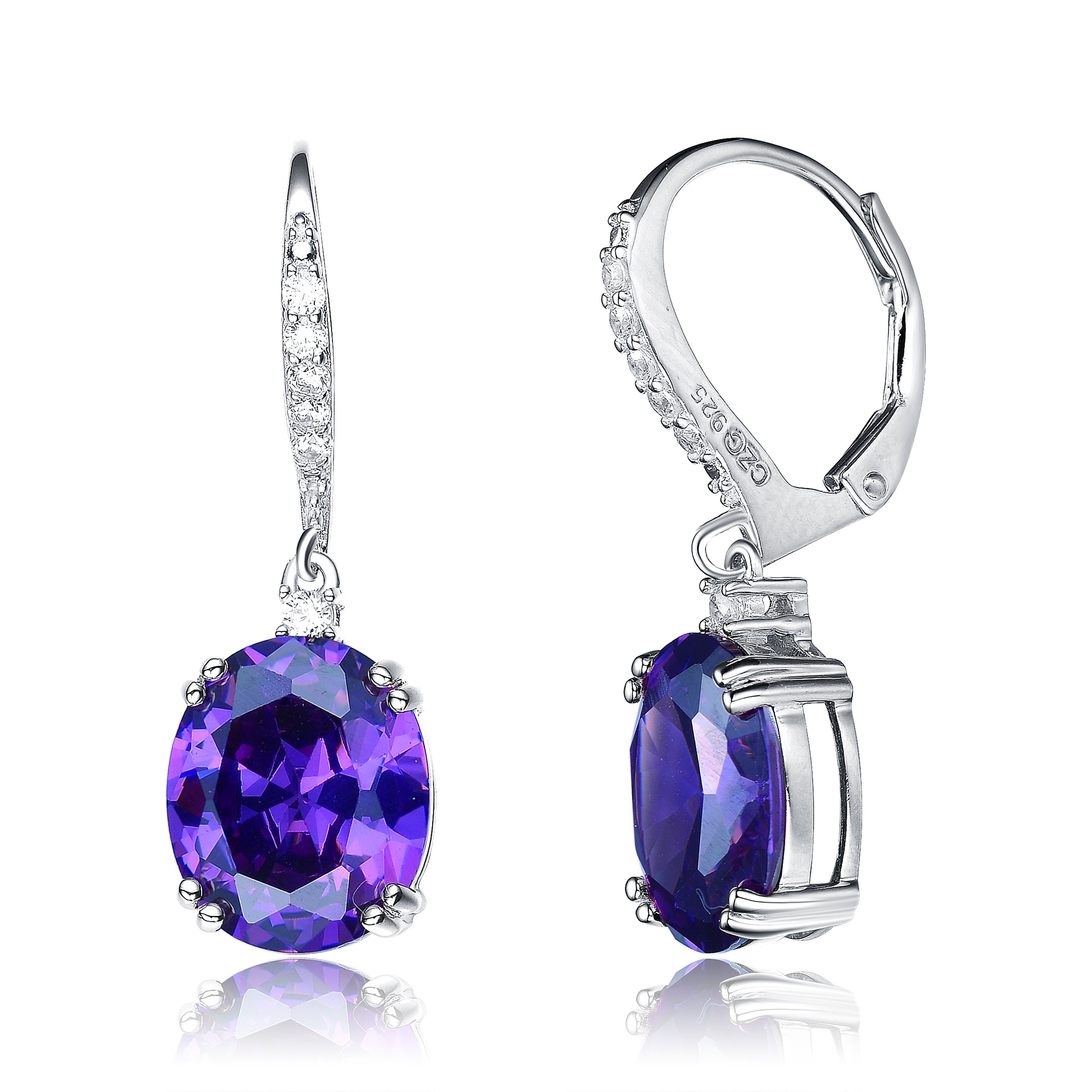 big fashion purple quality earrings elegant colors gold women drop high romantic in hyperbole from color item cubic plated jewelry earring zircon