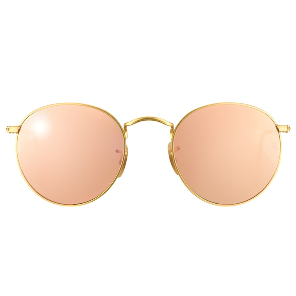 941a7b3091 Shop Ray-Ban Round Metal RB 3447 112 Z2 Matte Gold Round Metal Sunglasses -  50mm - Free Shipping Today - Overstock - 11550306
