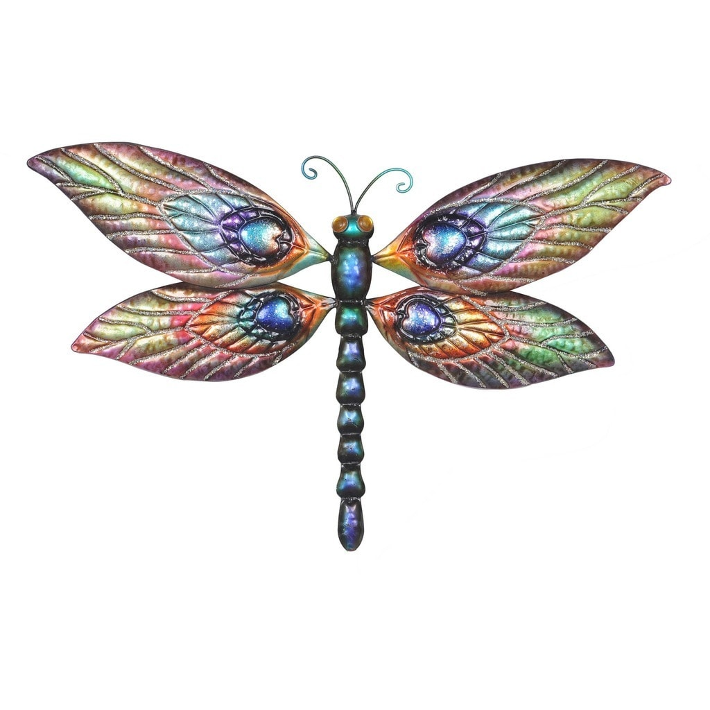 Sunjoy Butterfly And Dragonfly Hand Painted Outdoor Wall Decor Set Of 2