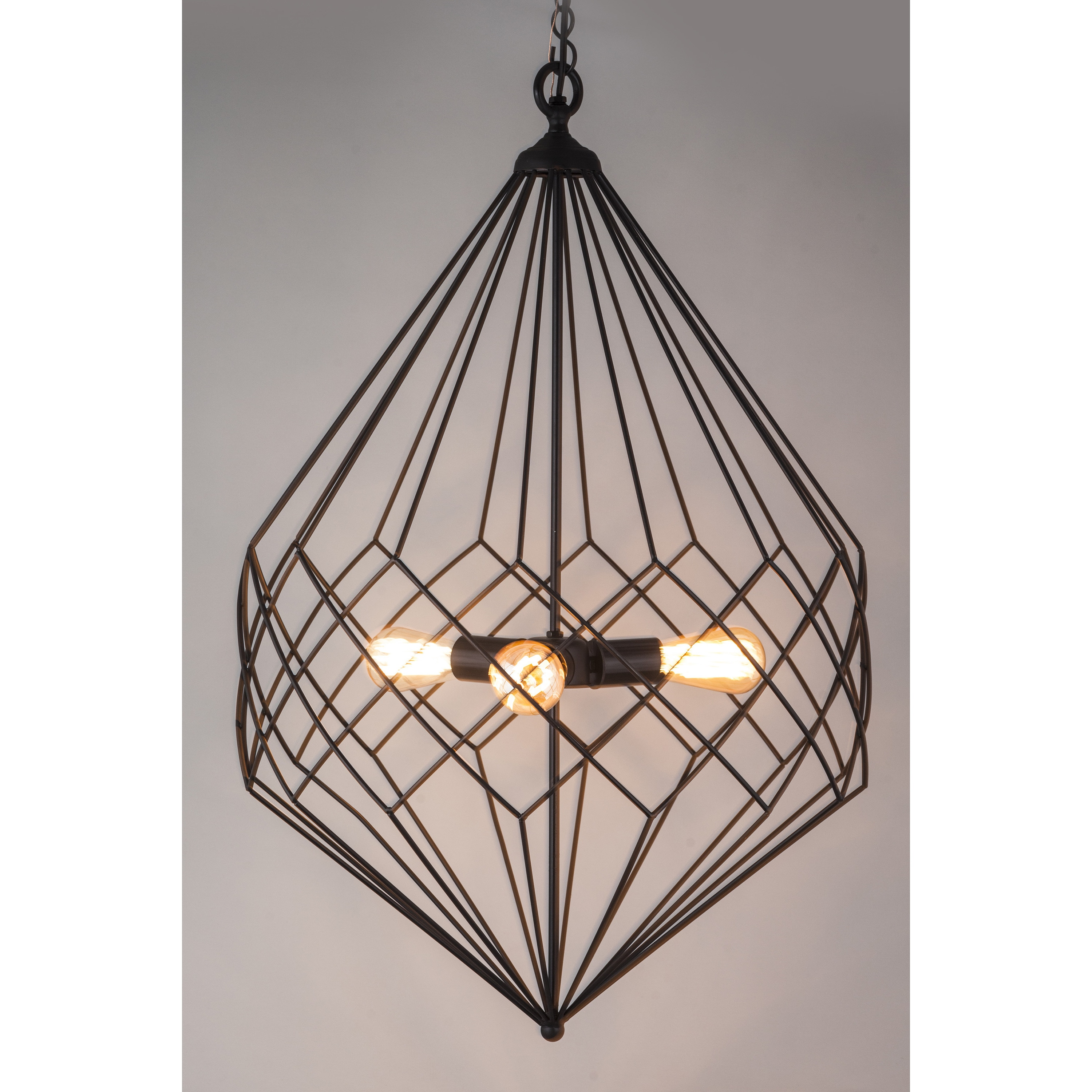 Shop Black Wire Large Pendant - Free Shipping Today - Overstock.com ...