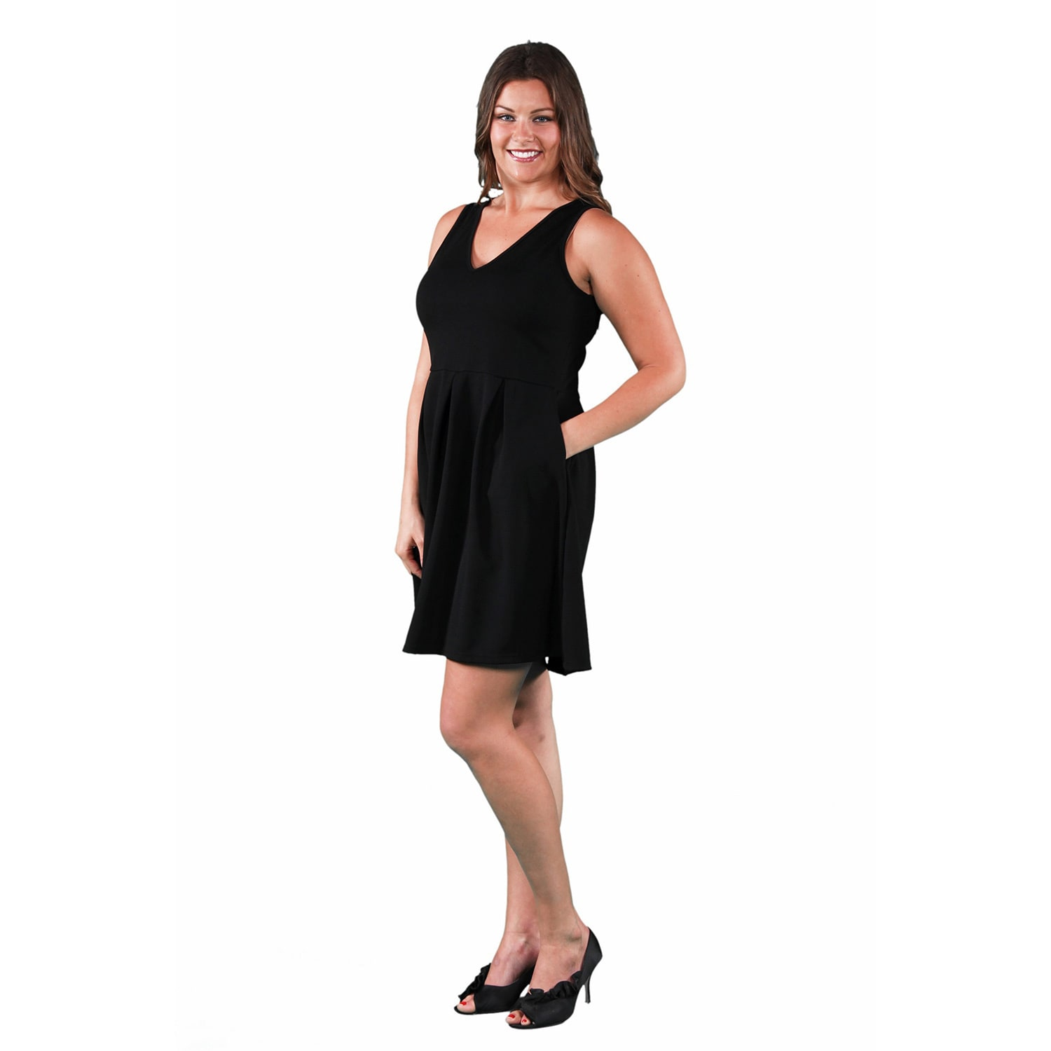 bdc7a9402bd Shop 24 7 Comfort Apparel Women s Plus Size Sleeveless A-line Dress - On  Sale - Free Shipping On Orders Over  45 - Overstock - 11551390