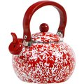 Reston Lloyd Calypso Basics Red 2-quart Marble Whistling Teakettle