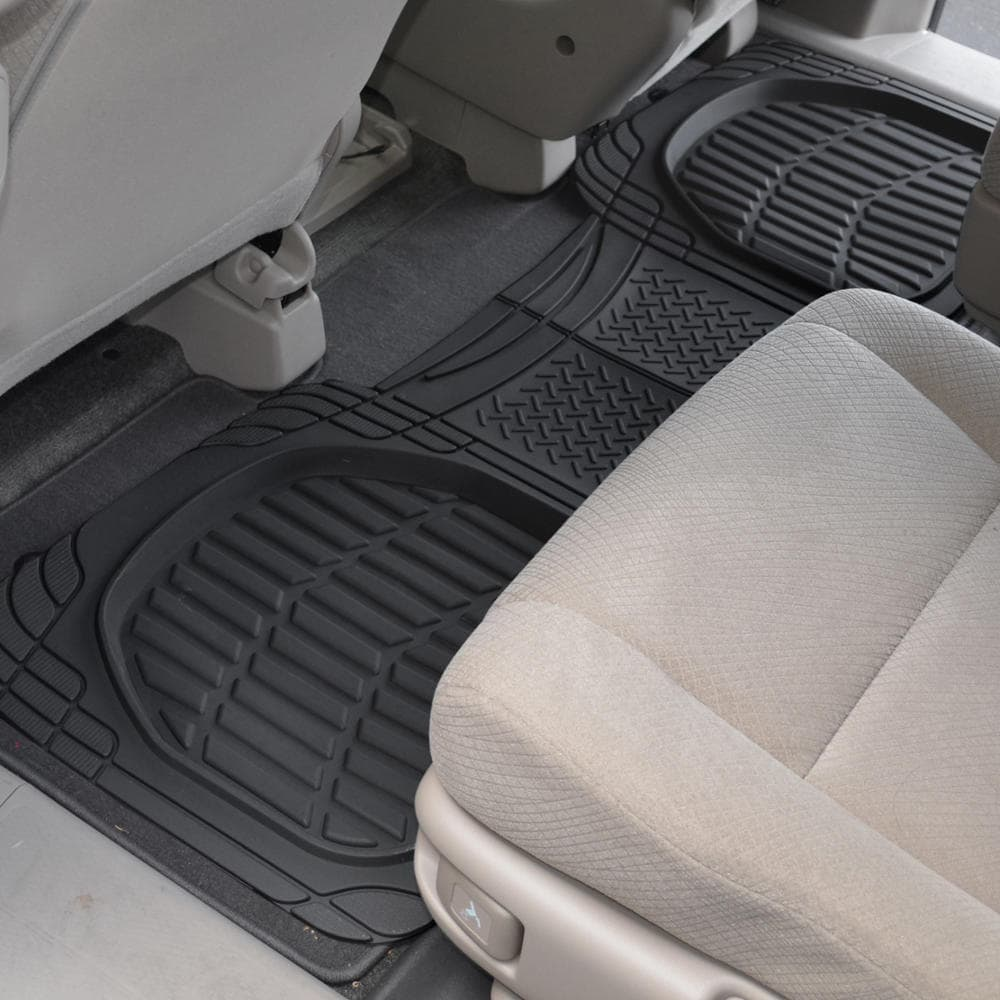 metal piece heavy product bdk mats set floor car front universal rear red floors full metallic mat fit design rubber duty