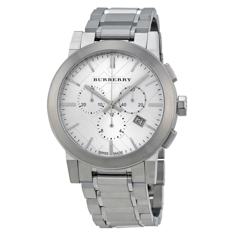 f7b02d7b144 Burberry mens bu large check chronograph stainless steel watch ea cca a e  jpg 1500x1500 Steel bracelet