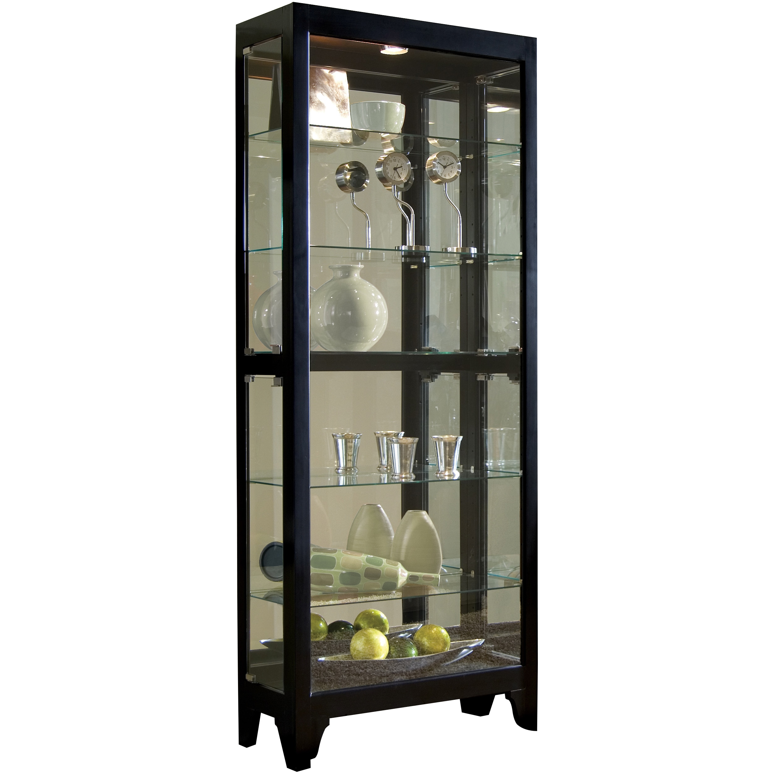 Shop black bunching curio cabinet on sale free shipping today overstock com 11552722