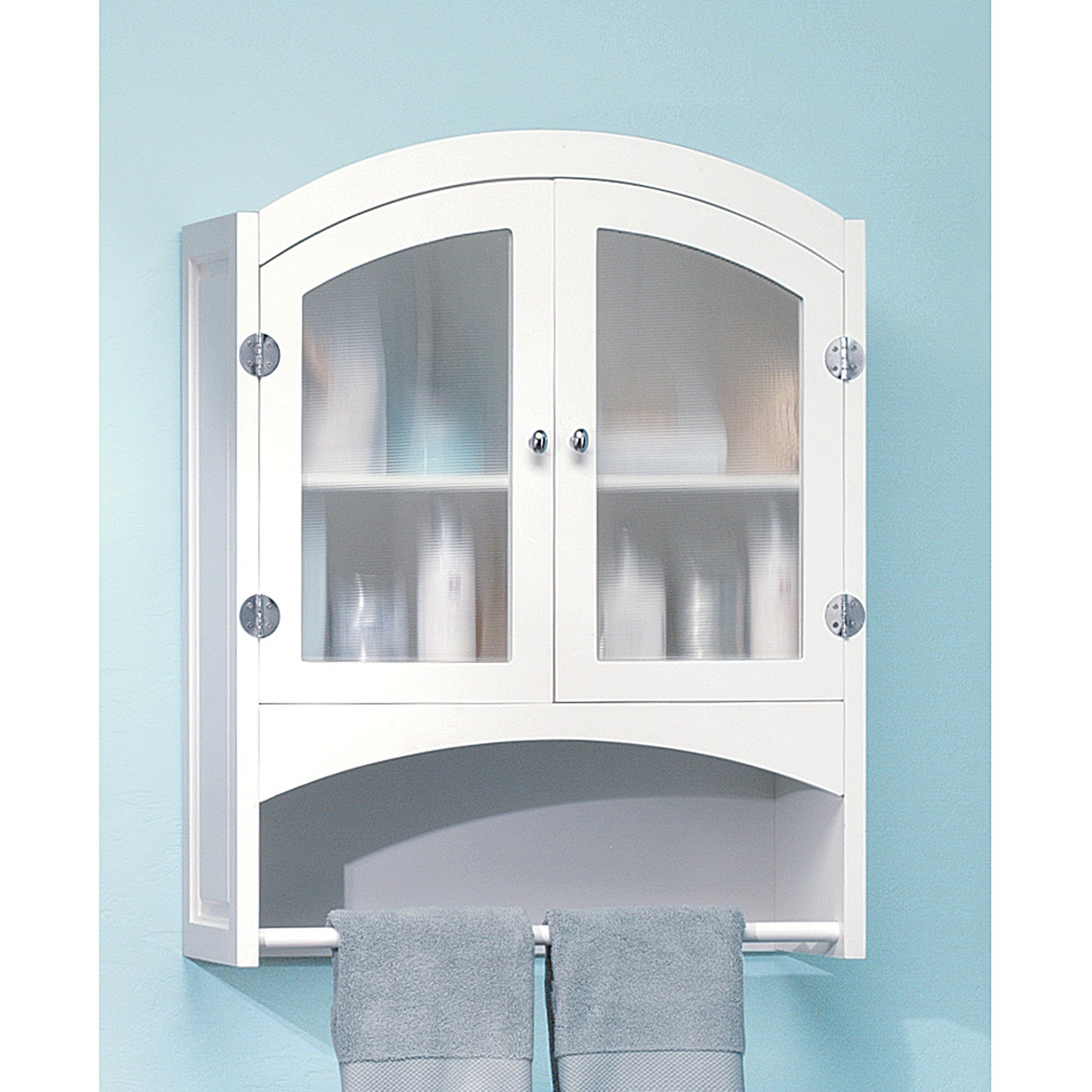 Shop Classic White Wall Mounted Two-Door Bathroom Cabinet - Free ...