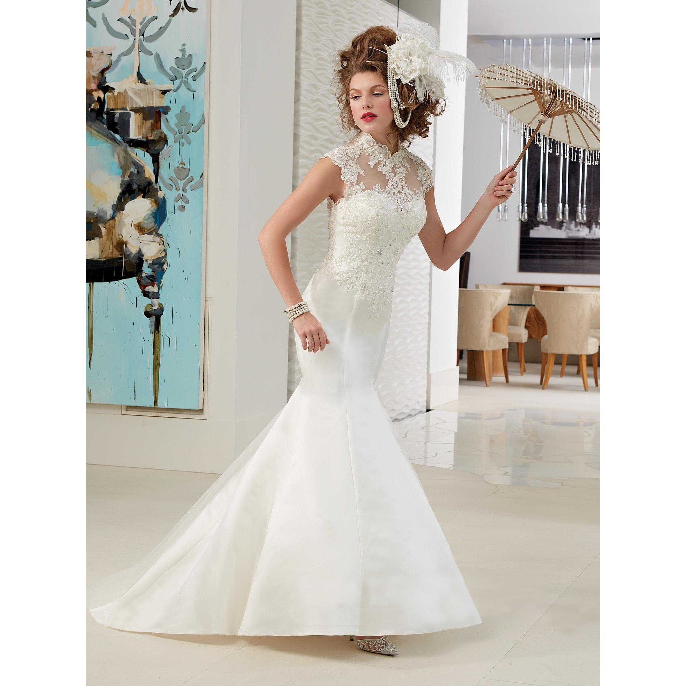 Shop Mary\'s Women\'s Lace Trumpet Bridal Gown (Size 16) - Free ...