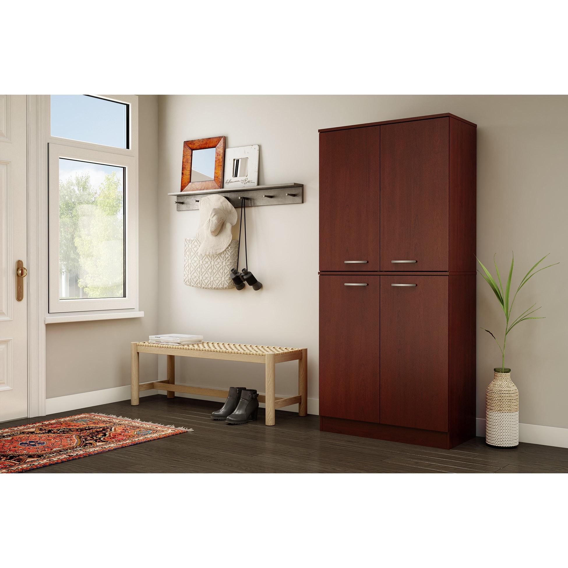 South Shore Axess 4 Door Armoire   Free Shipping Today   Overstock.com    18524140