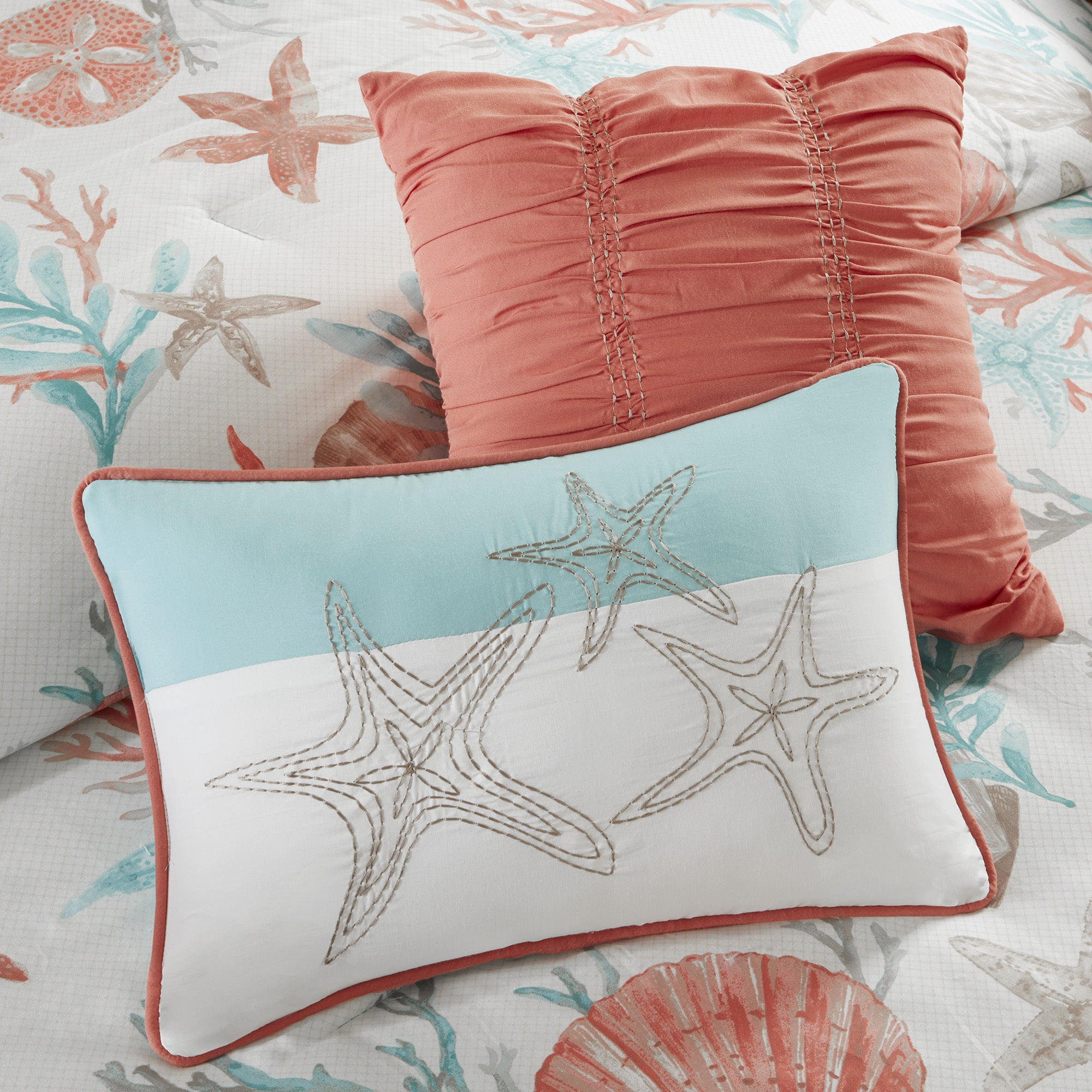 Madison Park Pacific Grove Coral Cotton forter Set Free