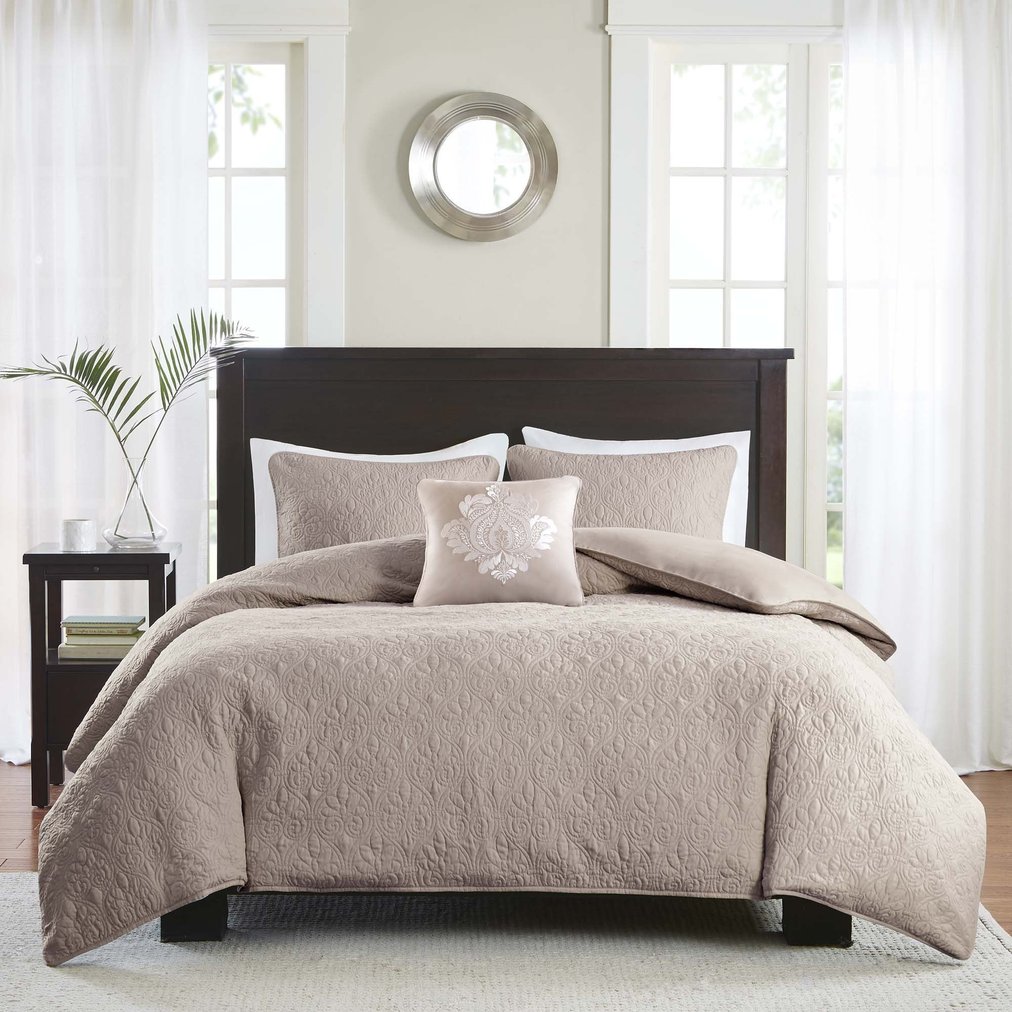 Madison Park Mansfield 2 In 1 Khaki Duvet Cover/Coverlet Set   Free  Shipping Today   Overstock.com   18524830