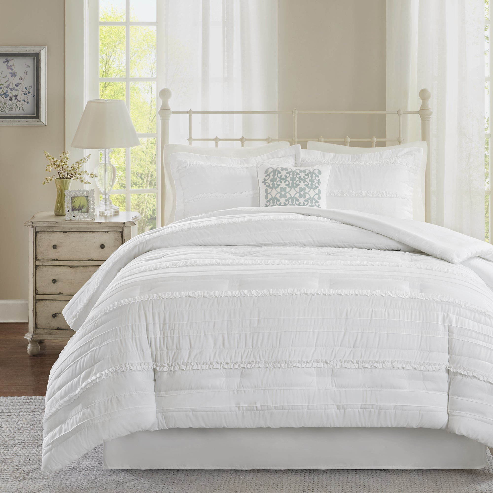 ebay white comforter of set park madison picture king p jacquard sets