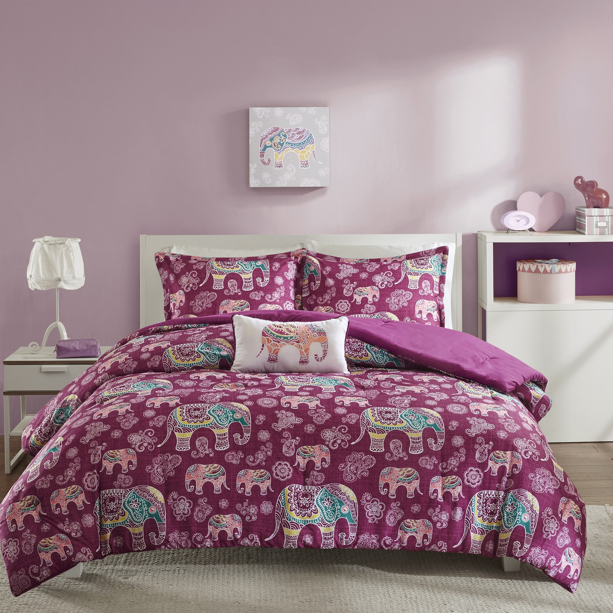 Shop Mi Zone Abby Berry Comforter Set