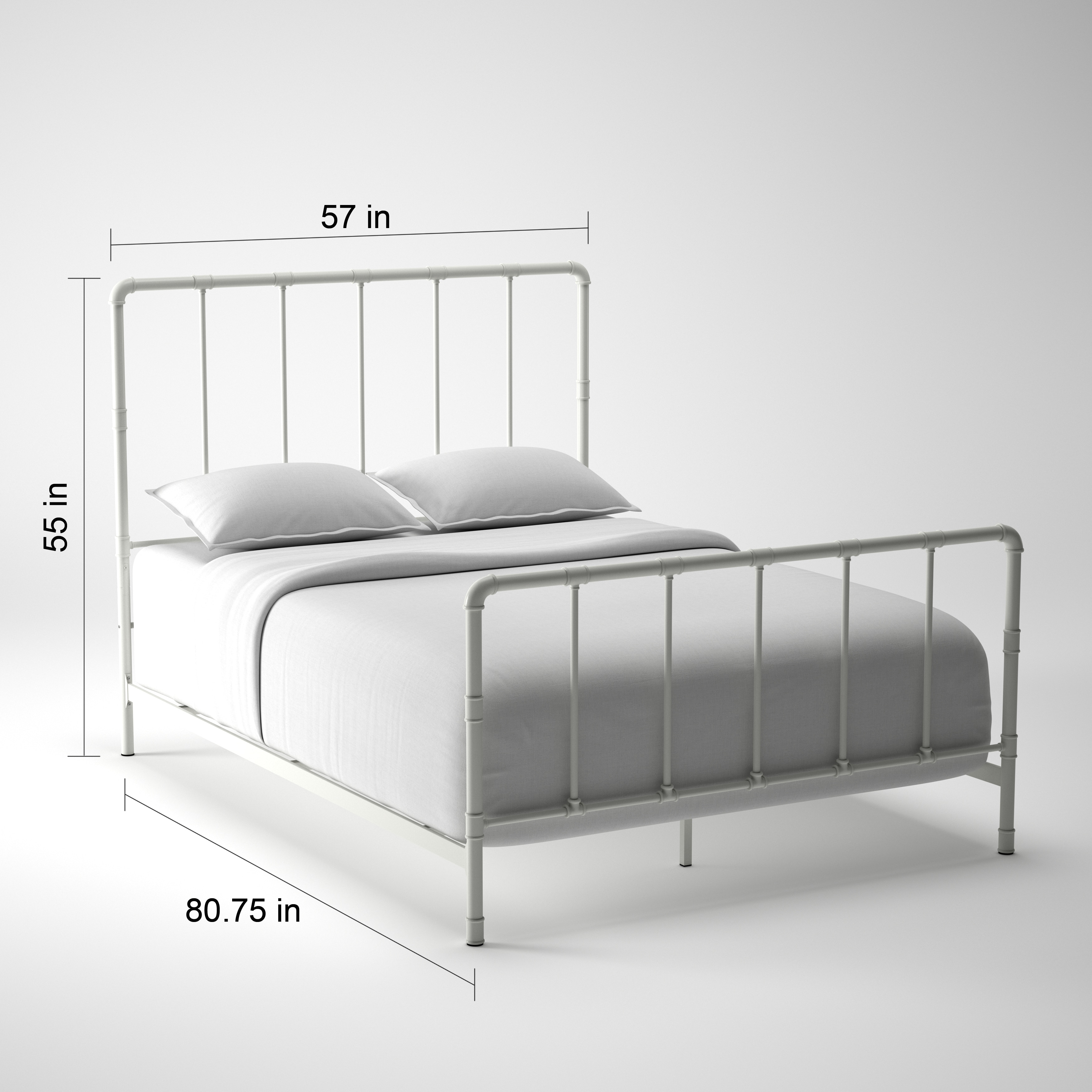 West Antique Industrial Lines Iron Metal Bed by iNSPIRE Q Classic - Free  Shipping Today - Overstock.com - 18525981