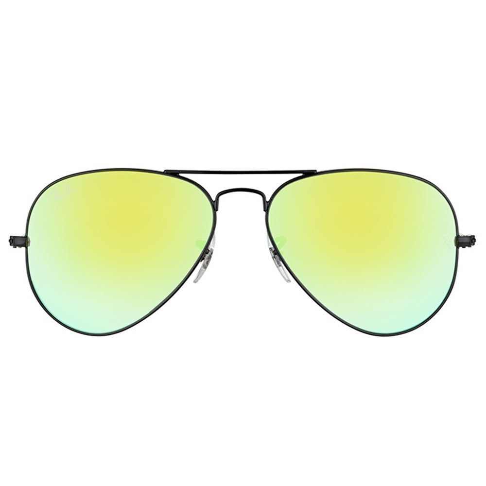 52dda497657 Shop Ray-Ban Aviator RB3025 62 mm Unisex Black Frame Green Gradient Flash  Lens Sunglasses - On Sale - Free Shipping Today - Overstock - 11585687