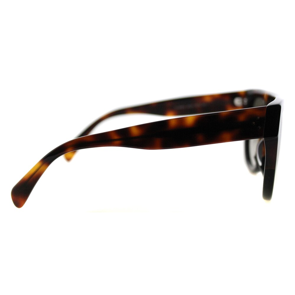 9ed0bb1d7977 Shop Celine CL 41026 Shadow AEA Flatop Havana Brown Plastic Fashion  Sunglasses Brown Gradient Lens - Free Shipping Today - Overstock - 11585802