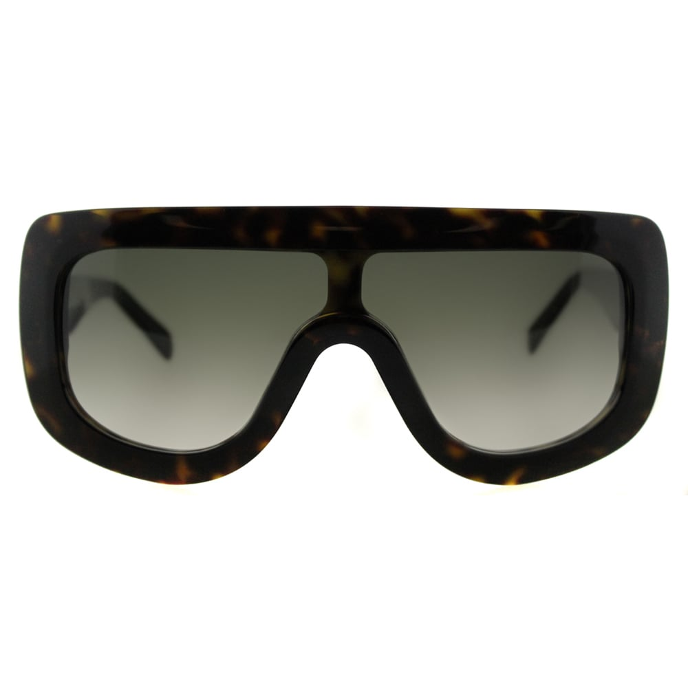 daa937d66bf Shop Celine CL 41377 Adele 086 Dark Havana Plastic Shield Sunglasses Green  Gradient Lens - Free Shipping Today - Overstock - 11585979
