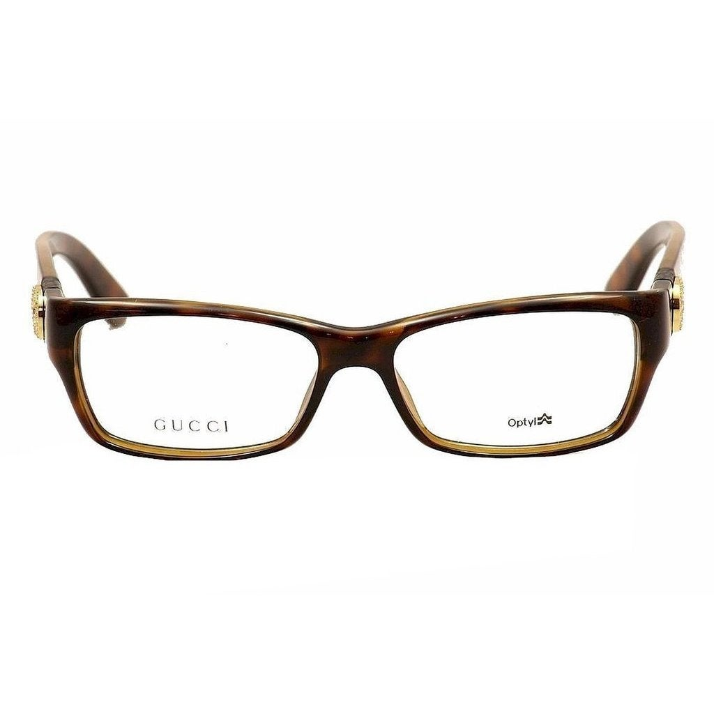 74fc1770b98 Shop Gucci Womens GG 3773 U Z3Q Havana Plastic Rectangle Eyeglasses-53mm -  Free Shipping Today - Overstock - 11586227
