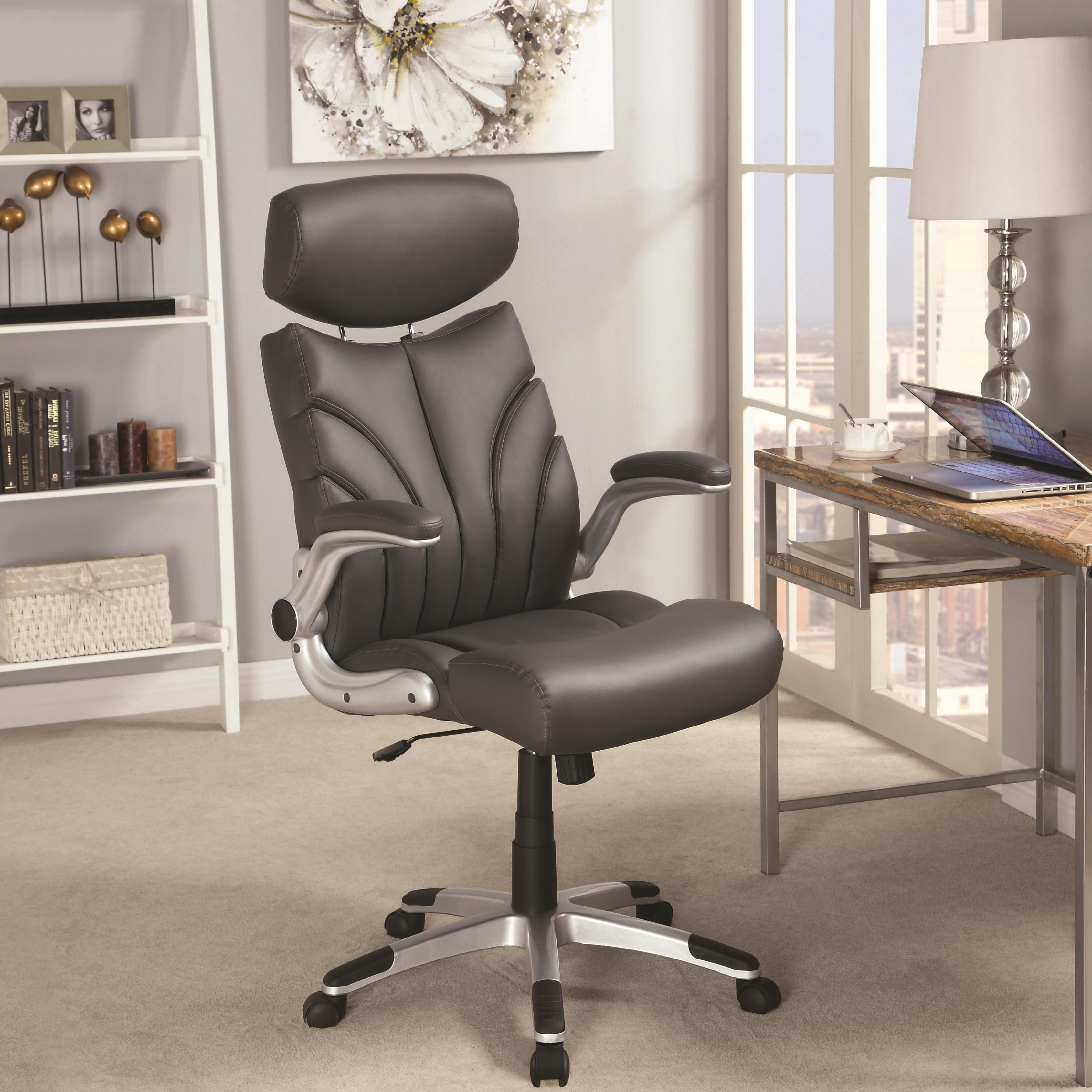 Shop Mercado Contemporary Sleek Design Grey Executive Office Chair with Head Rest - Free Shipping Today - Overstock.com - 11586455 & Shop Mercado Contemporary Sleek Design Grey Executive Office Chair ...