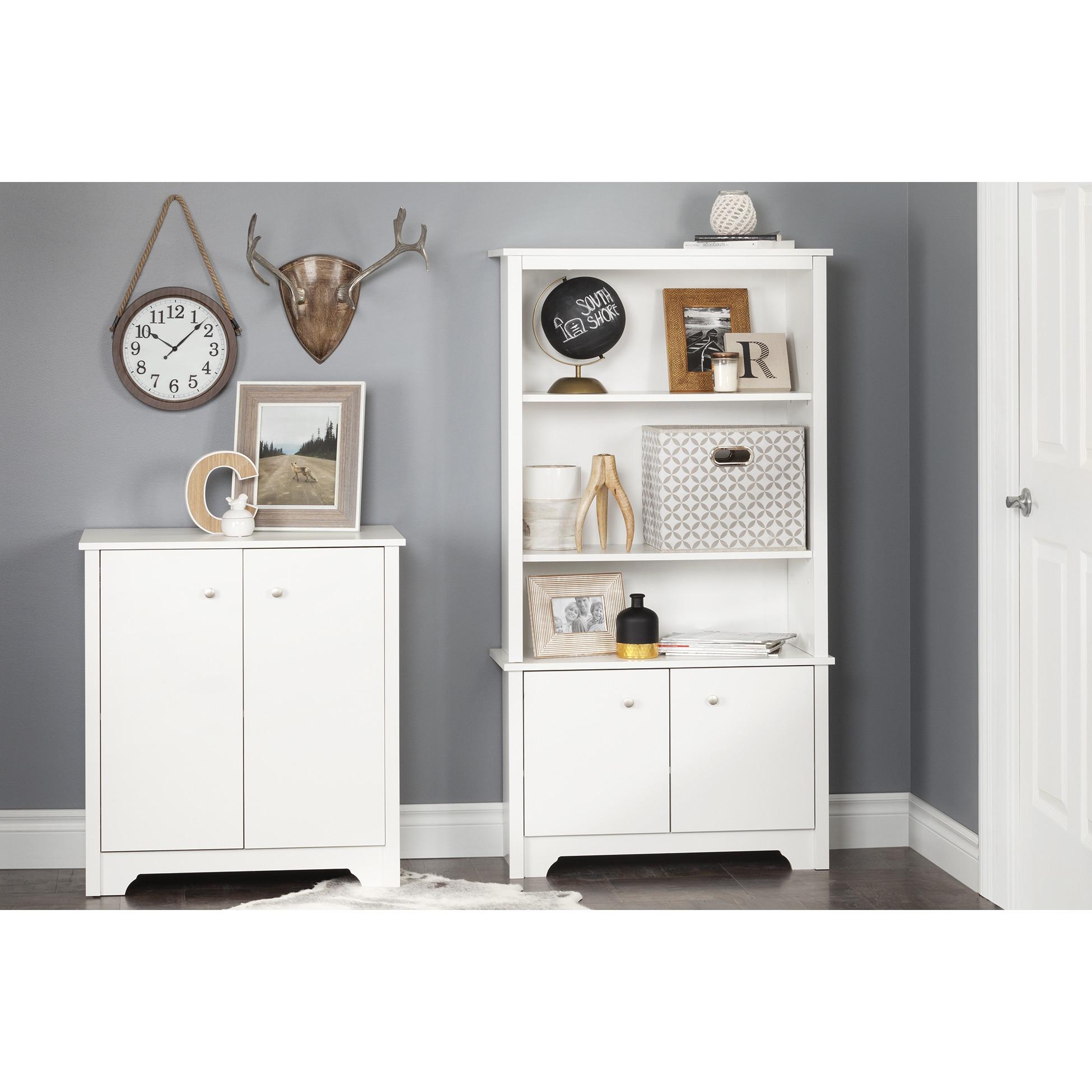Shop South Shore Vito Small White 2 Door Storage Cabinet Free