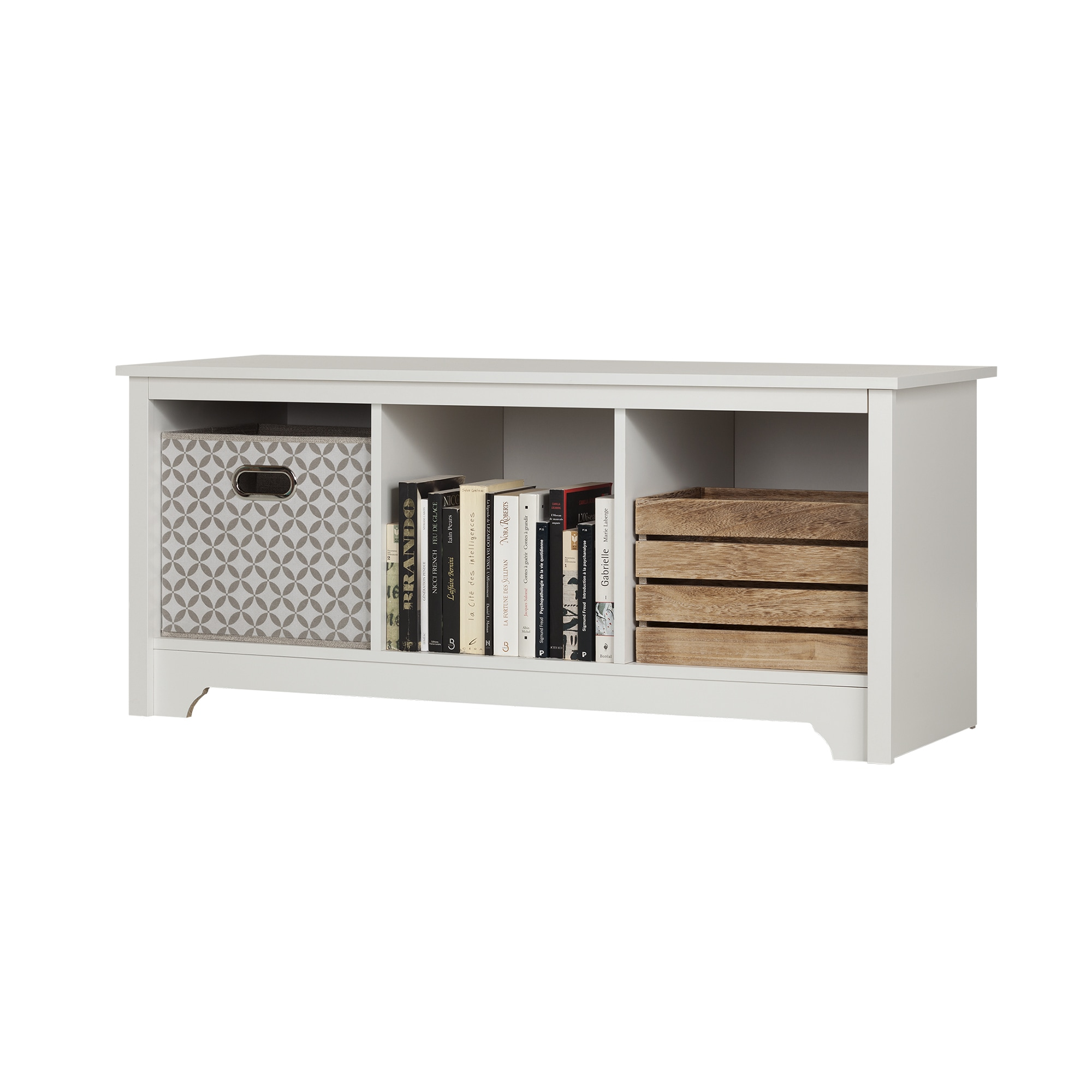 South Shore Vito Cubby Storage Bench - Free Shipping Today - Overstock.com  - 18529527
