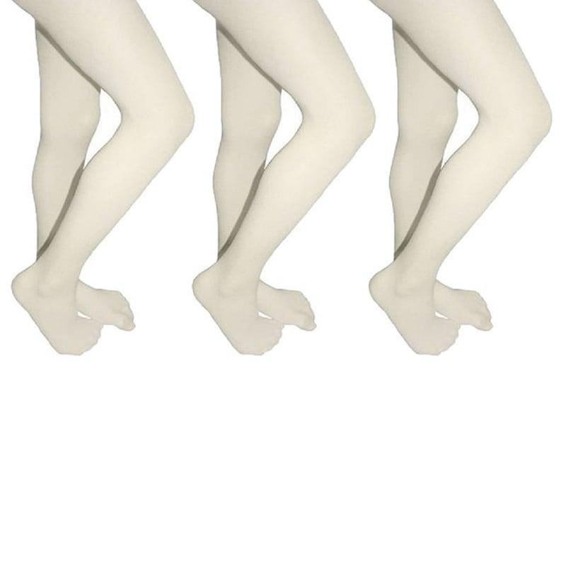 f8ee4157e0373 Butterfly Girls Microfiber School Tights Uniform Hosiery Footed Stockings  (3-pack)
