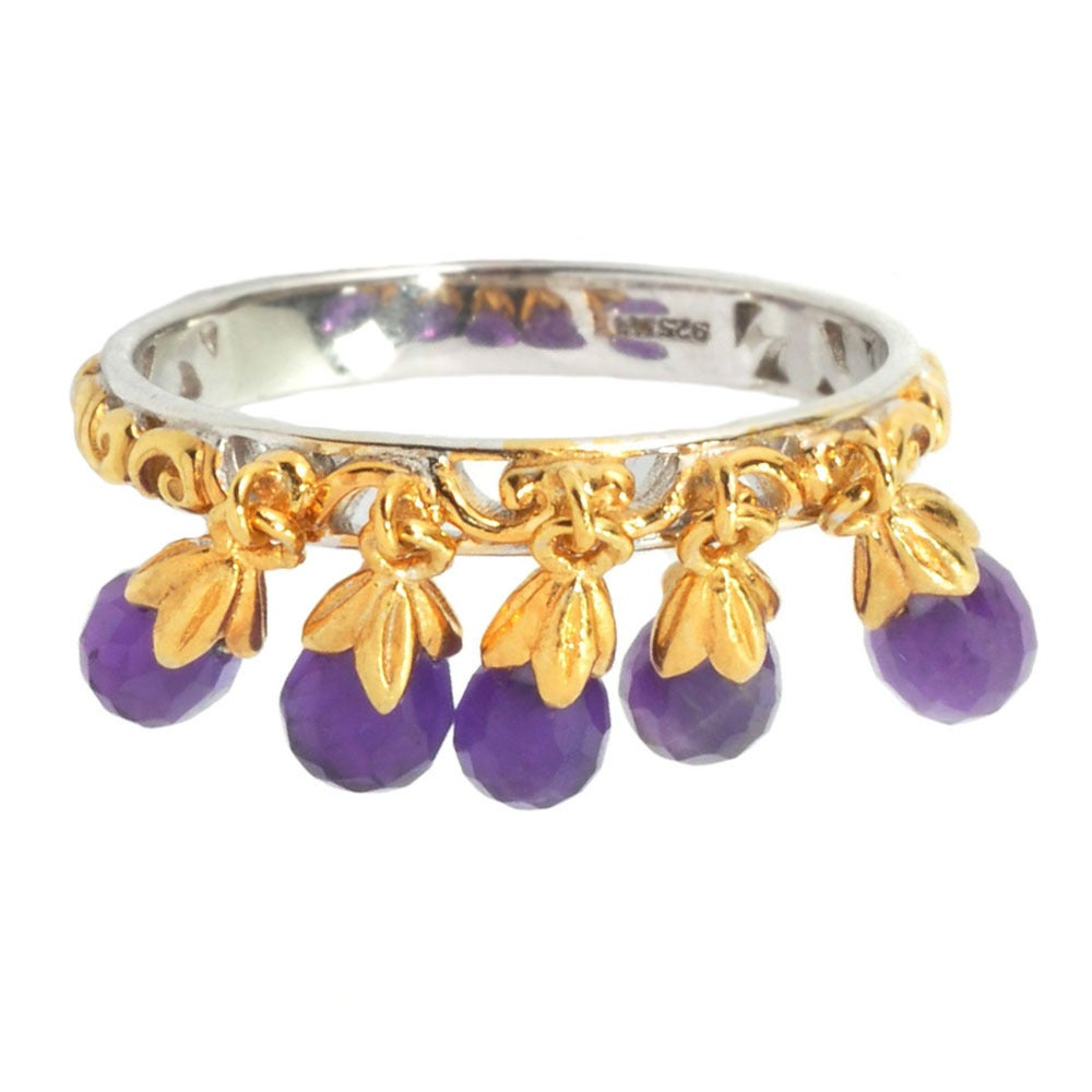 Michael Valitutti African Amethyst Stacking Drop Ring - Free ...