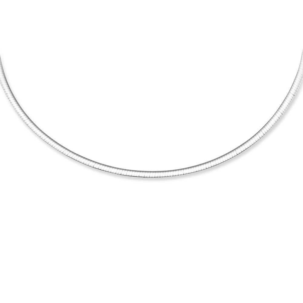 omega merchandise service domed product white gold necklace