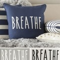 Decorative 18-inch 'Breathe' Print Throw Pillow Shell