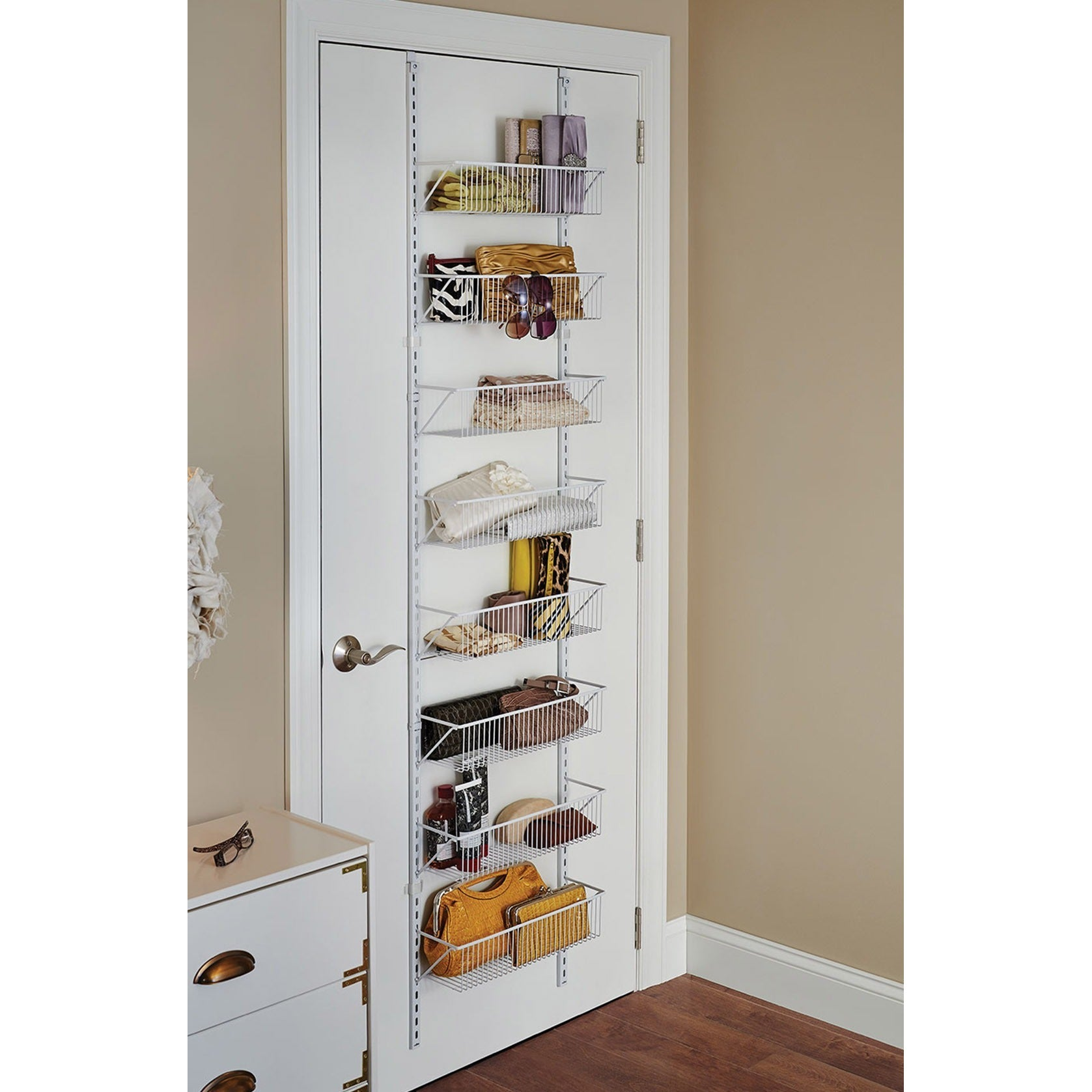 Genial Shop ClosetMaid White Epoxy Coated Stainless Steel Adjustable Hanging Basket  Organizer   Free Shipping Today   Overstock.com   11591323