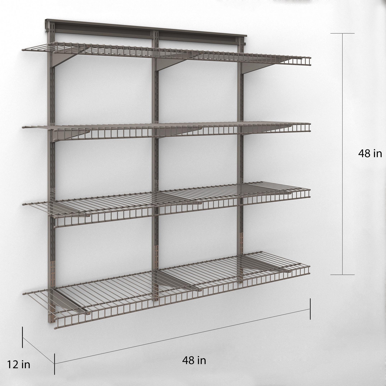 ClosetMaid 4 Shelf Wire Shelving Unit - Free Shipping Today ...