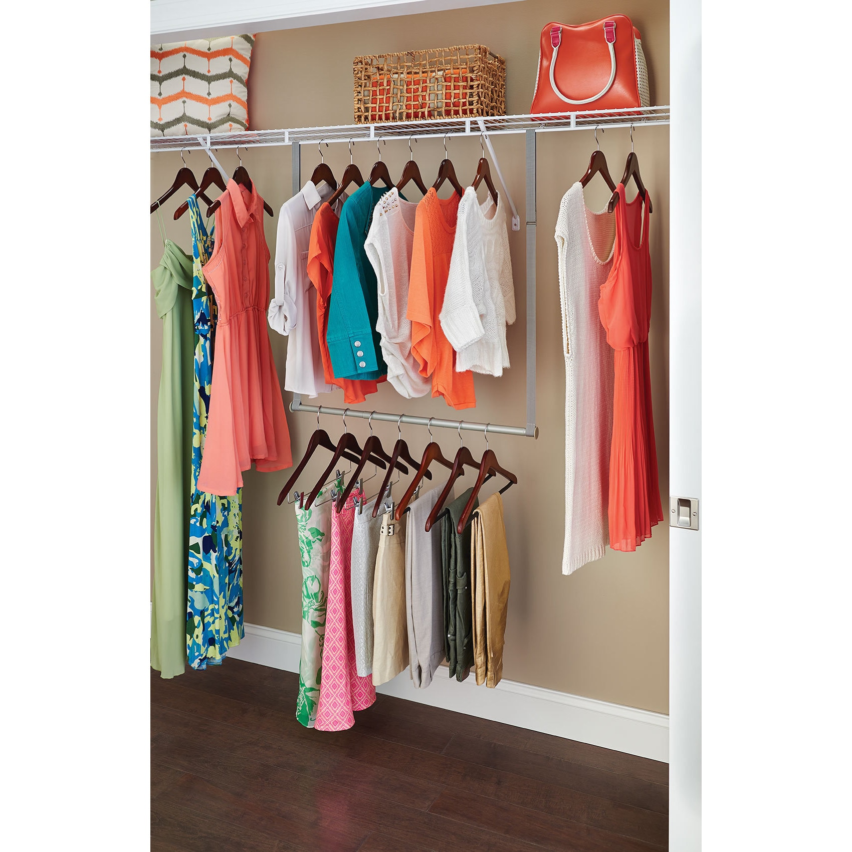 Image result for hanging closet rack double