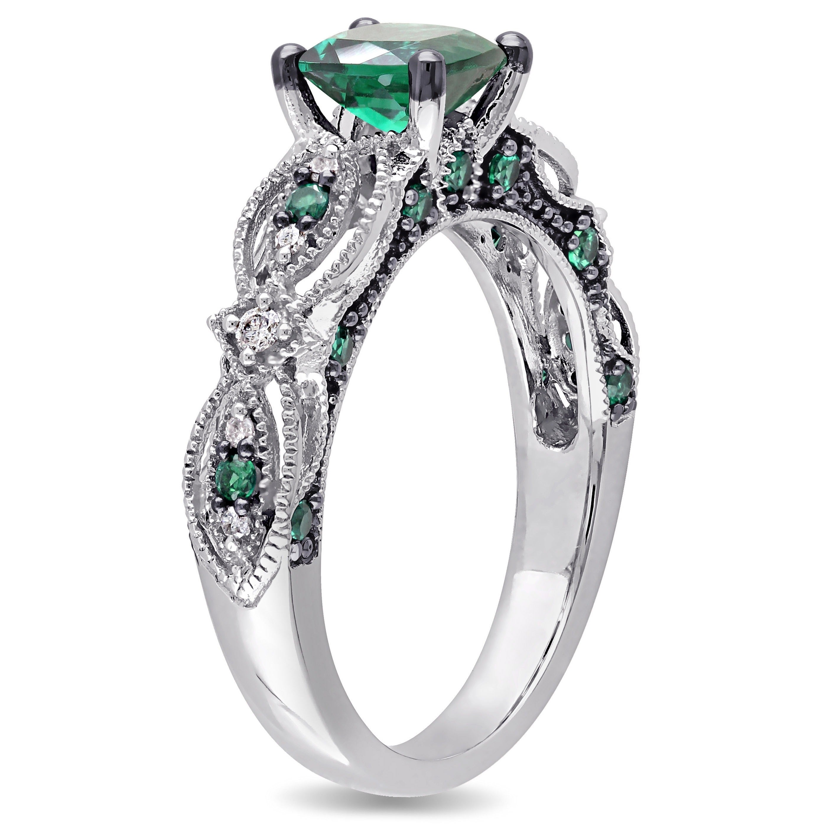 org j img z rings id ring white diamond pave cut gold jewelry emerald engagement carat at cushion