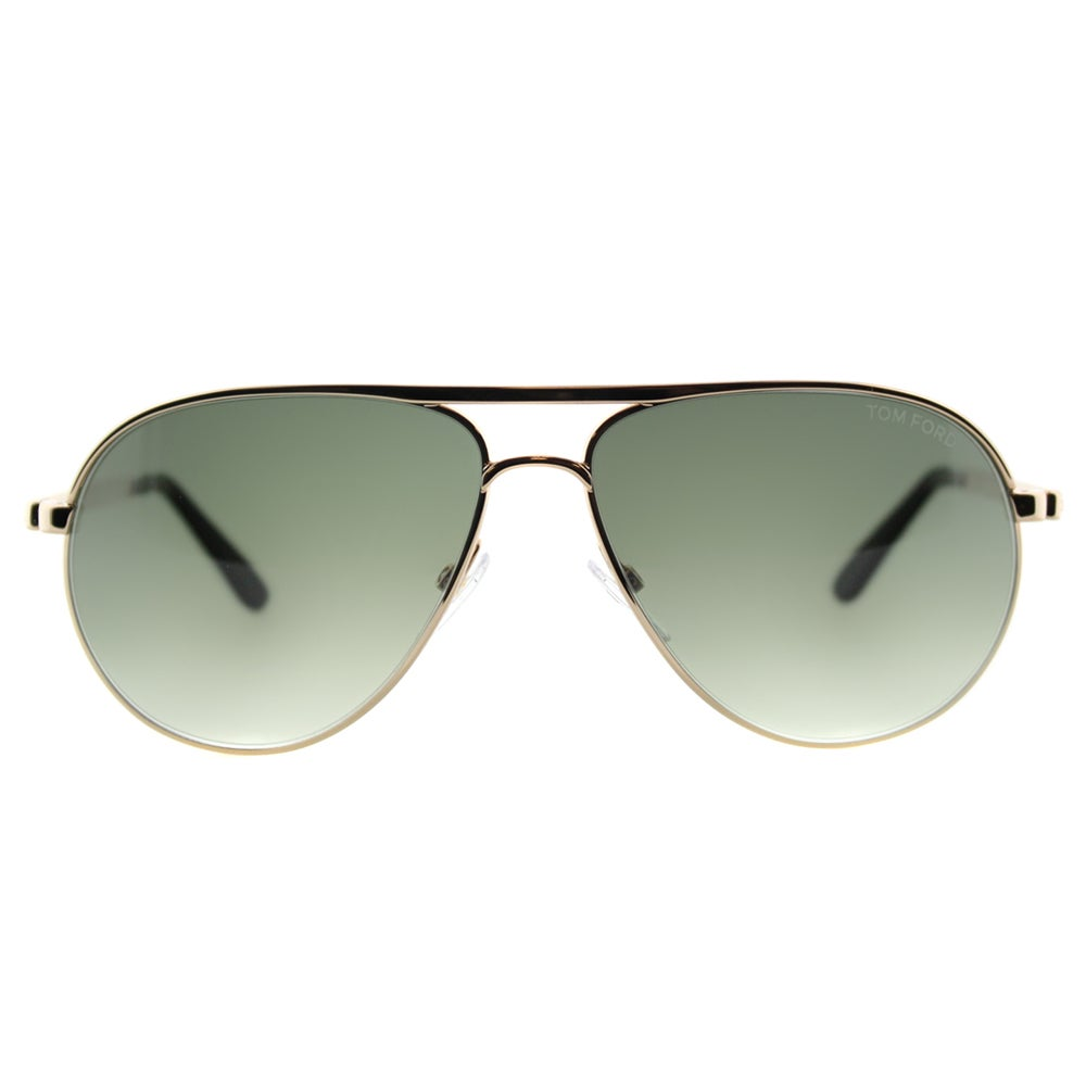 b7421bc67e Shop Tom Ford TF 144 28P Marko Shiny Rose Gold Metal Aviator Sunglasses  Green Gradient Lens - Free Shipping Today - Overstock - 11595012