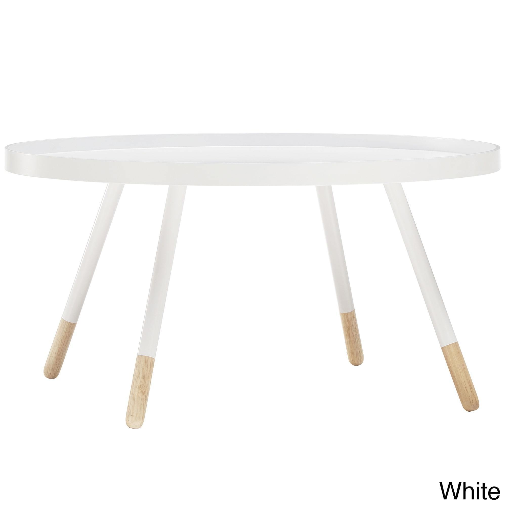 Marcella Paint-dipped Round Spindle Tray Top Coffee Table iNSPIRE Q Modern  - Free Shipping Today - Overstock.com - 18534722