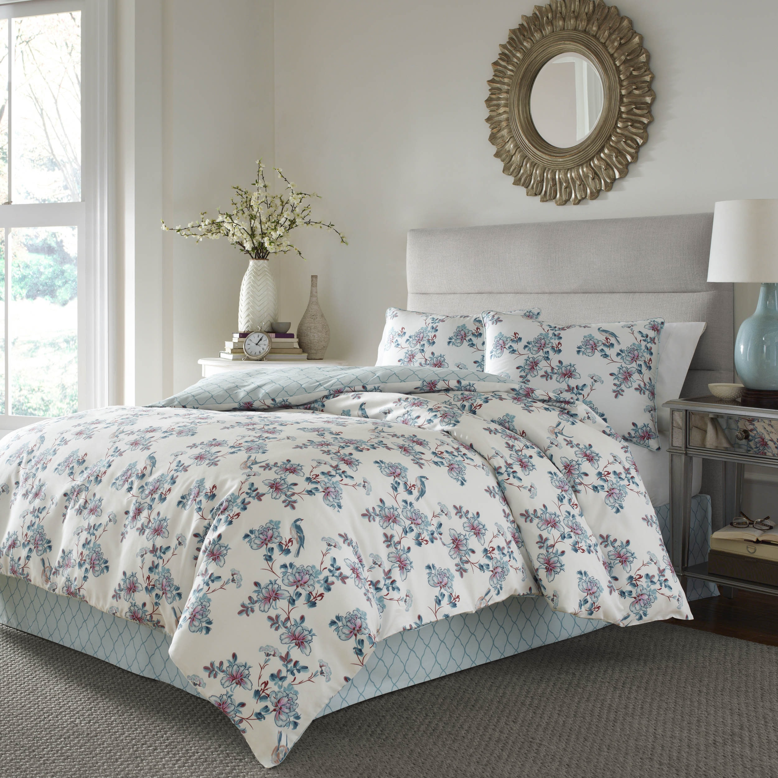 floral mini zi posies sateen p painted collection comforter london set dillards ted pink baker