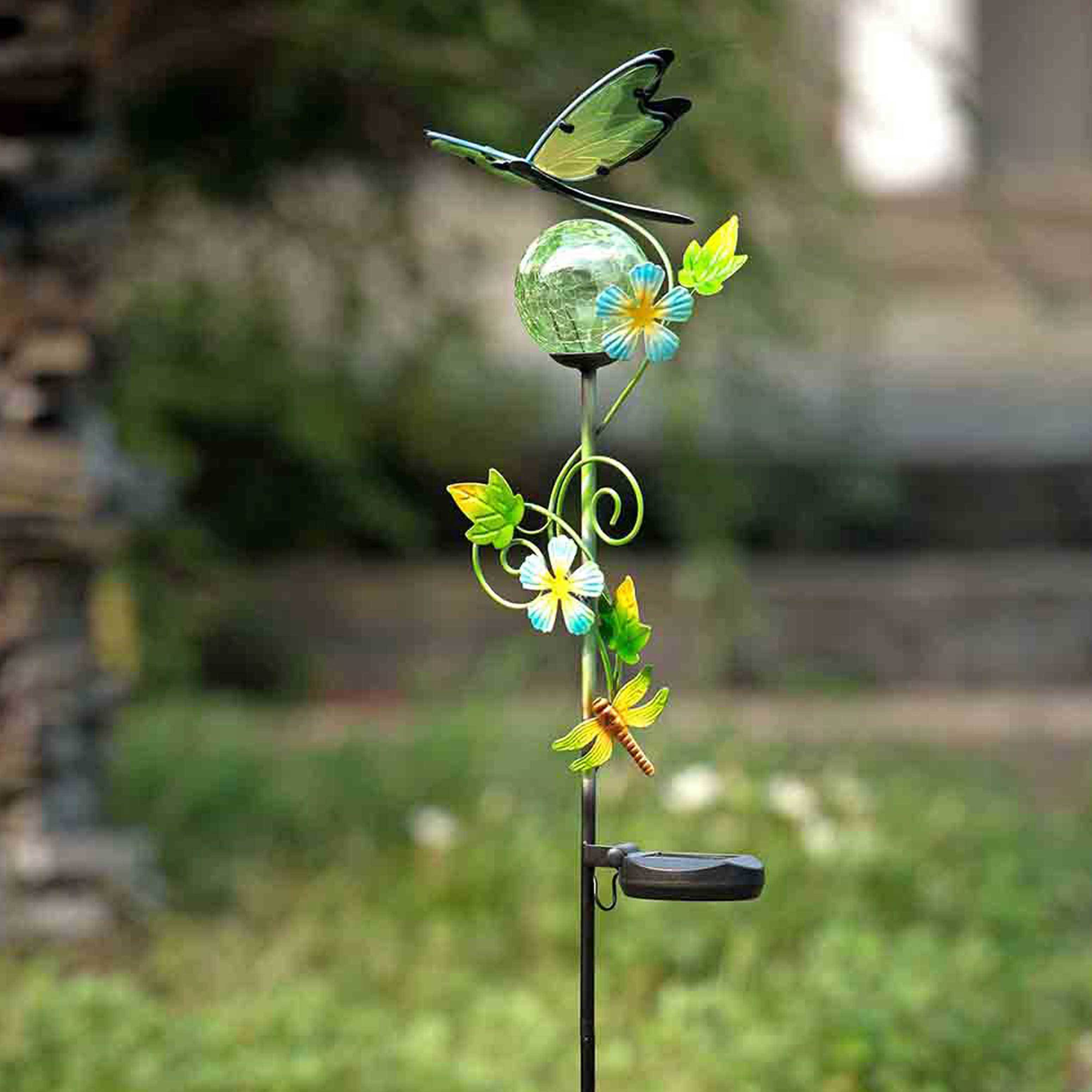 Sunjoy Dragonfly Led Solar Garden Stake  Free Shipping On