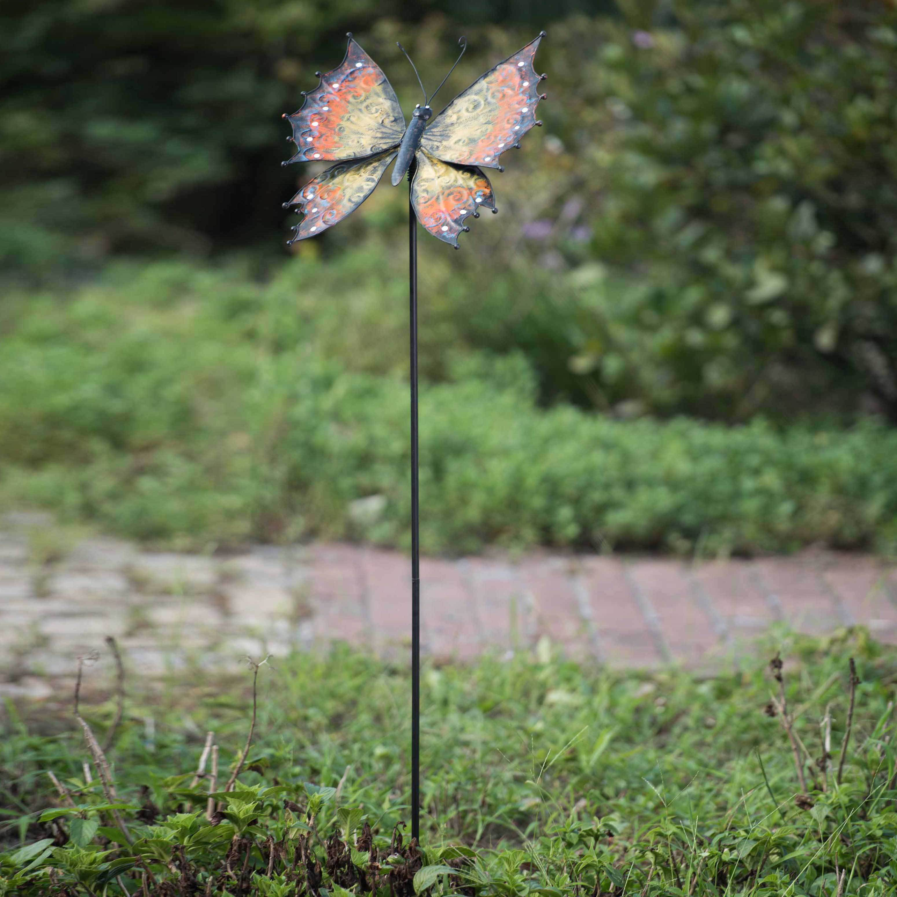Shop Sunjoy Large Butterfly Garden Stake   On Sale   Free Shipping On  Orders Over $45   Overstock.com   11599118