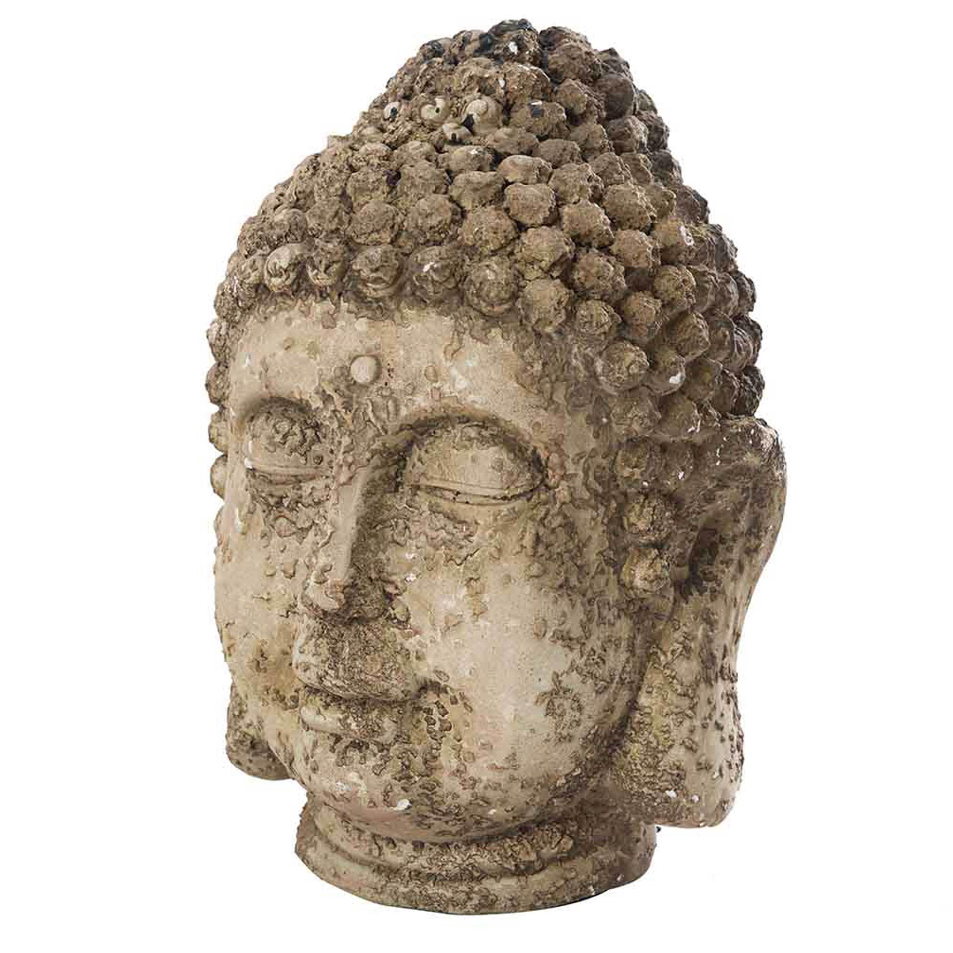 Shop Sunjoy Rustic Garden Buda Statue, 17-inch, Resin - Free ...